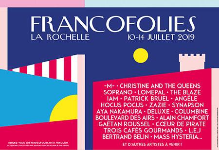 Affiche Francofolies 2019
