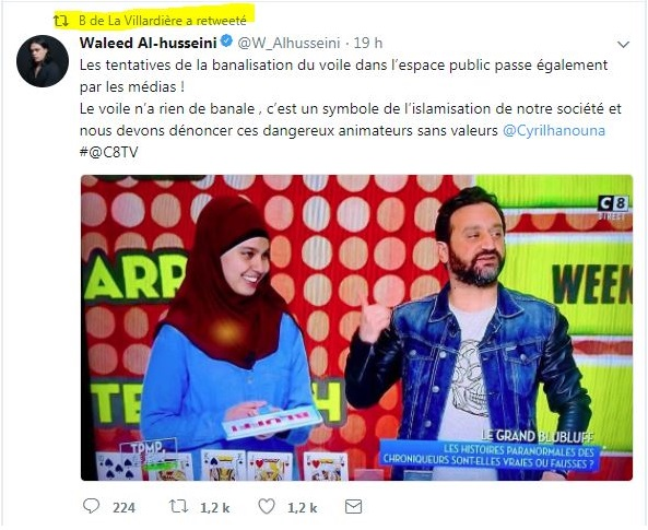 TPMP: Cyril Hanouna ridiculise Bernard de la Villardière sur l'affaire du voile !