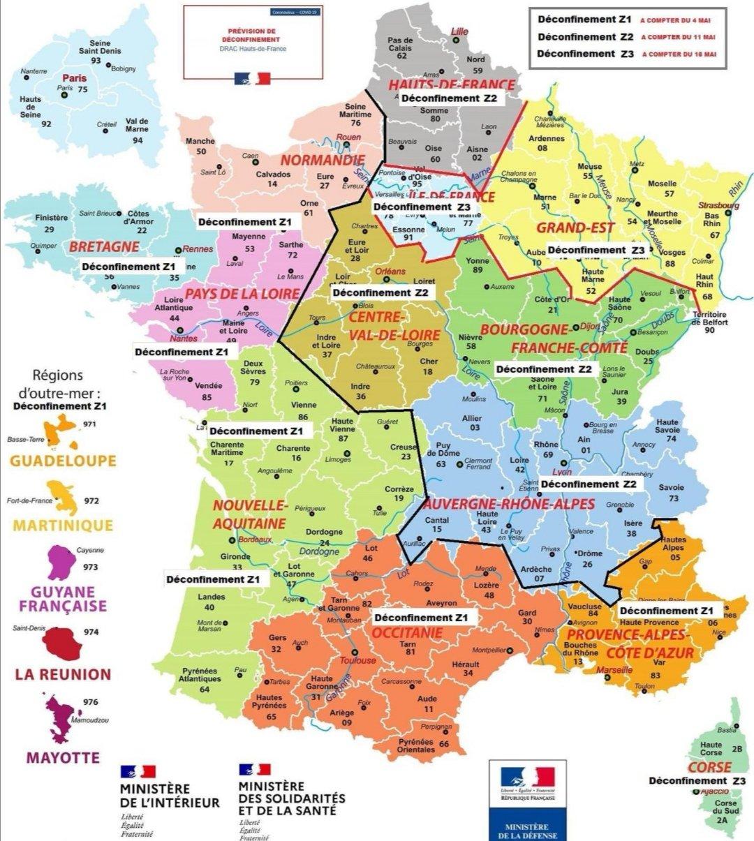 Déconfinement progressif : une fausse carte de France circule sur les réseaux sociaux - Contact FM