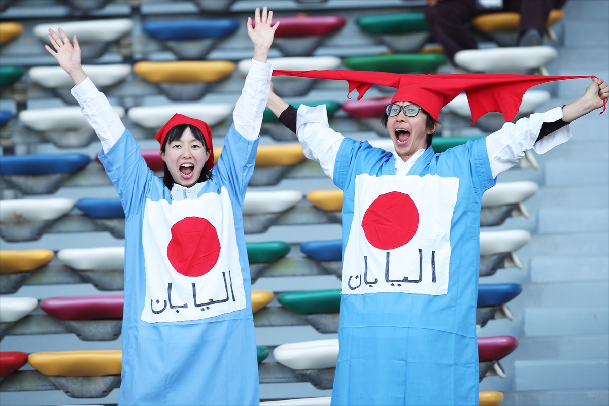 supporters japonais