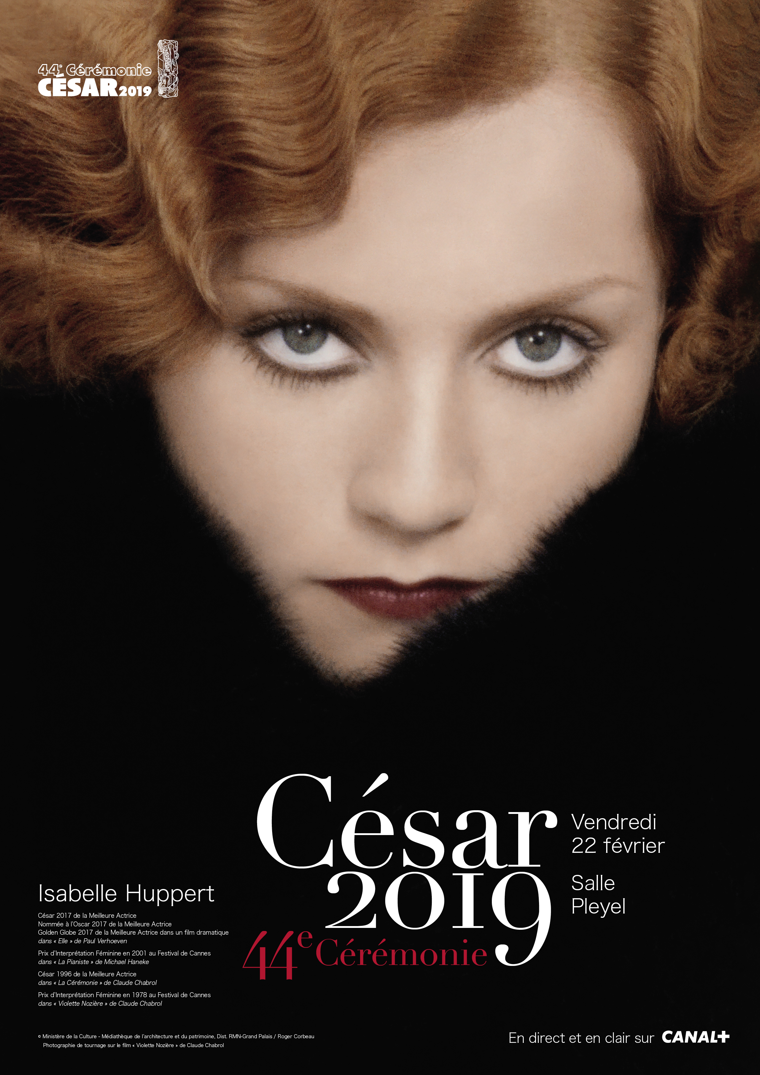 César 2019, Affiche officielle (via Académie des arts et techniques du cinéma)